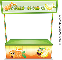 A stall for refreshing drinks - Illustration of a stall for...