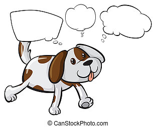 A puppy with empty thoughts - Illustration of a puppy with...
