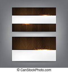 Wood and sparks theme business card template Part 1