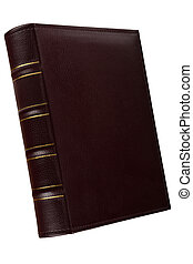 book - Leather cover of  book isolated on white background