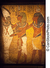 Egyptian Wall Mural - Scene from Egyptian Wall Mural -...