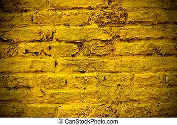Yellow brick wall - A yellow brick wall for background or...