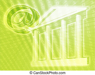 Electronic government, e-government illustration with at...