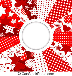 Abstract frame with stars and hearts
