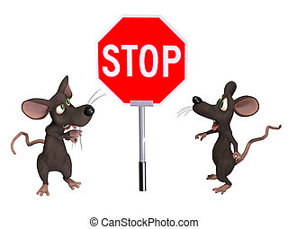 Mouse with a STOP sign