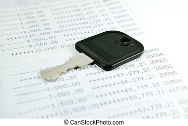 A key with account passbook