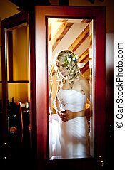 Wedding preparations - Bride is getting ready for her...