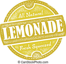 Vintage Lemonade Sign - Distressed vector lemonade graphic.