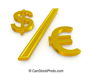 dollar and the euro. exchange rate