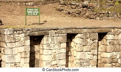 Traditional Inca wall and oven