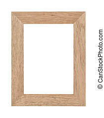Empty wooden photo frame - Empty rectangular wooden photo...