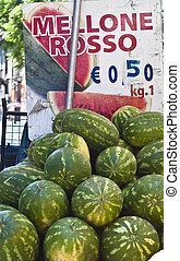 watermelons for sale at the local market