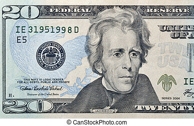 twenty dollars bill - twenty paper dollars bill macro