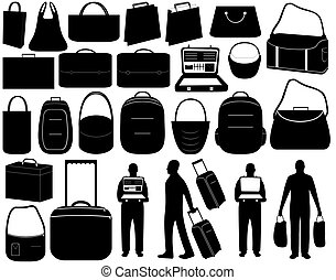 Luggage - Illustration of different luggage isolated on...