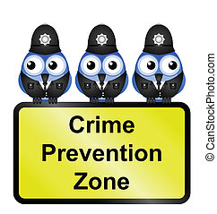 UK crime prevention zone sign - Comical UK crime prevention...