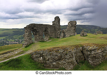 Castell Dinas Bran - View of Castell Dinas Bran above...