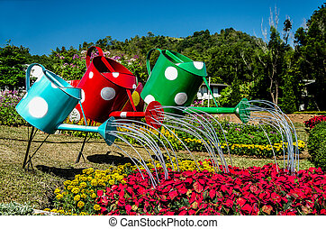 Colorful of watering can