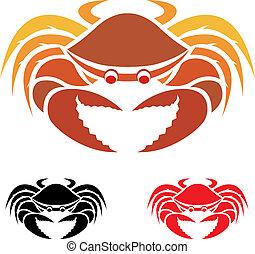 image, vecteur, crabe