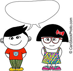 Boy and Girl - boy and girl are talking something