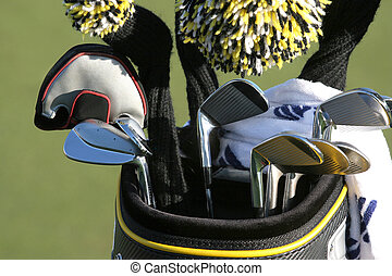 Golf bag with set of clubs - golf bag with clubs