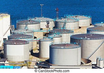 Fuel storage area - Oil industry business concept:...