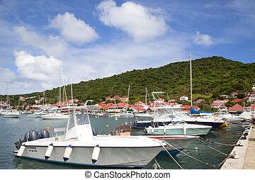 Boats in Gustavia marina,St. Barths