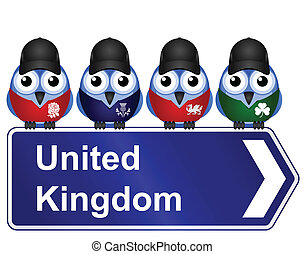 United Kingdom sign - Comical United Kingdom sign isolated...
