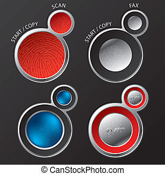 Button sets for scanners/copiers - Various button sets for...