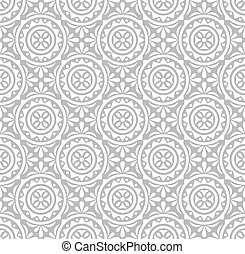 Silver floral pattern-wallpaper