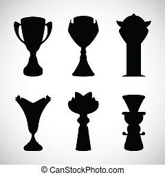 vector black trophy cup with special design