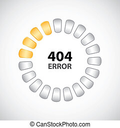 404 error concept with special design