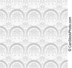 Seamless fancy silver wallpaper