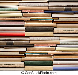 Books - Stack of old books. No labels, blank spine.