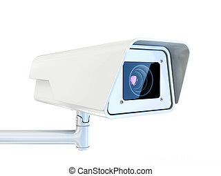 security camera isolated on a white background