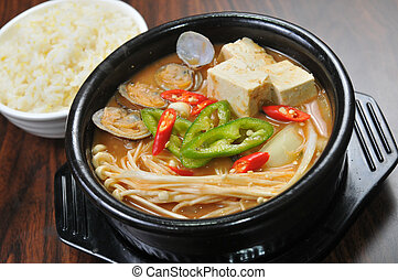 Korean food - miso soup