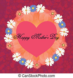 happy mothers day, cute background. vector illustration