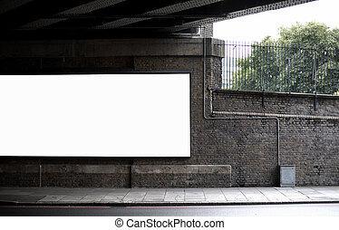 czysty, tablica ogłoszeń, pod, Most