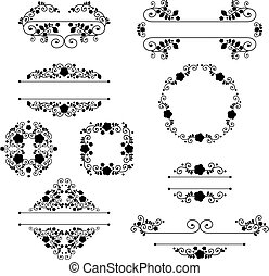 vintage vignette - vector of set of vintage design elements