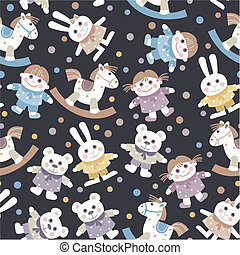 background with toys - seamless baby background with toys