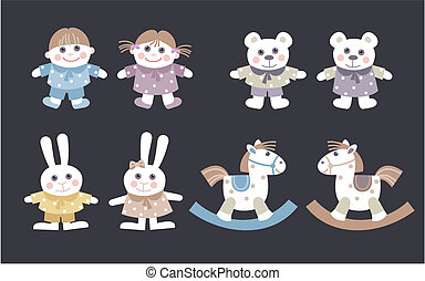 dolls and stuffed animal - collection dolls and stuffed...