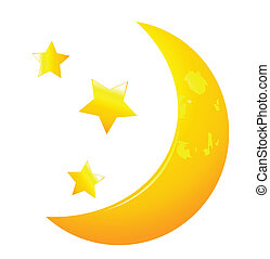 Crescent moon Clipart and Stock Illustrations. 6,534 Crescent moon ...