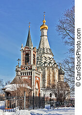 Church of the Transfiguration in Ostrov village from second...