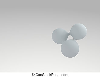 Abstract 3D Molecule Background