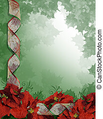 Christmas Poinsettias Border - Image and Illustration...