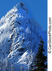 McClellan Butte Snow Mountain Peak, Snoqualme Pass...