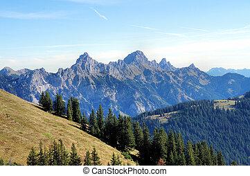 Tyrolean mountains - Mountain world in Tyrol, Austria;...