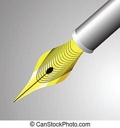 Shiny Fountain Pen Nib