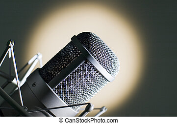 Microphone - Microphone in studio