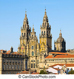 Cathedral of Santiago de Compostela in Spain. - Cathedral of...
