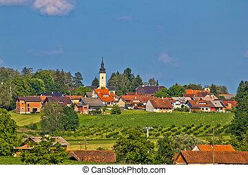 Croatian village in green nature